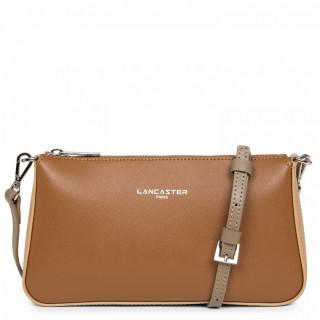 Lancaster Saffiano Timeless Bag Pocket 421-57 Camel Nude Vison