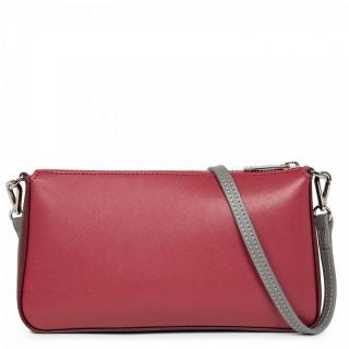 Lancaster Saffiano Timeless Bag Pocket 421-57 Raspberry Bordeaux Grey Hot