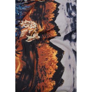 Desigual Rectangular Scarf Double Printed Navy Landscape