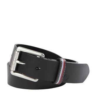 Serge Blanco Leather Belt MT12167A Black