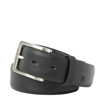 Serge Blanco Leather Belt MT12168A Black