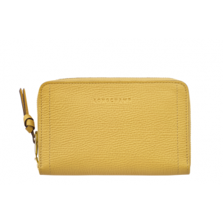 Longchamp Mailbox Yellow Compact Wallet
