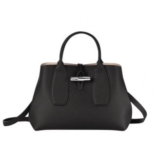 Longchamp Roseau Porté Hand M Black
