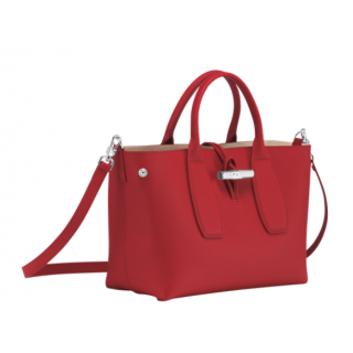 Longchamp Roseau Hand M Red