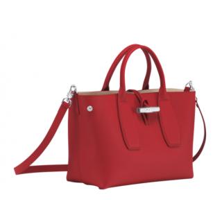 Longchamp Roseau Porté Main M Rouge