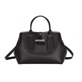 Longchamp Reed Box Porté Hand M Black