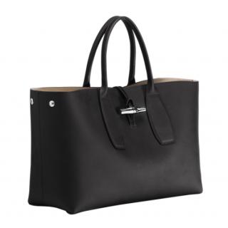 Longchamp Roseau Porté Main L Black