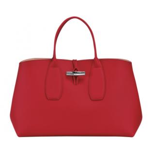 Longchamp Roseau Porté Main L Rouge