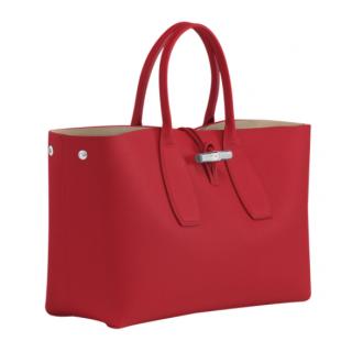 Longchamp Roseau Porté Main L Red