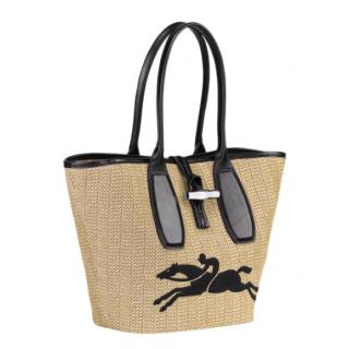 Longchamp Roseau Straw Natural Shopping