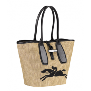 Longchamp Roseau Paille Shopping Naturel