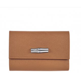 Longchamp Natural Wallet Rose
