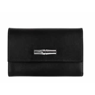 Longchamp Reed Box Black Wallet