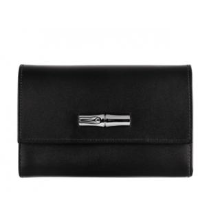 Longchamp Roseau Box Portefeuille Noir