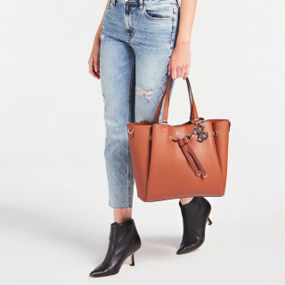 Guess Digital Sac Shopping Cognac