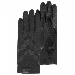 Isotoner Women's Gloves Stretch Compatible Black Touch Screens