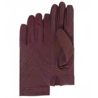 Isotoner Women's Gloves Stretch Compatibles Touch Screen Bordeaux
