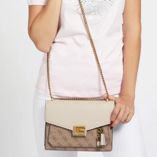 Guess Valy Sac A Bandoulière Beige LTE