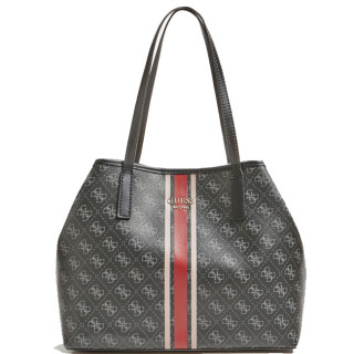 Guess Vikky Shopping Bag and Pocket 2 in 1 Coal