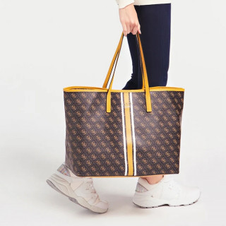 Guess Vikky Shopping Bag and Pocket 2 in 1 Brown