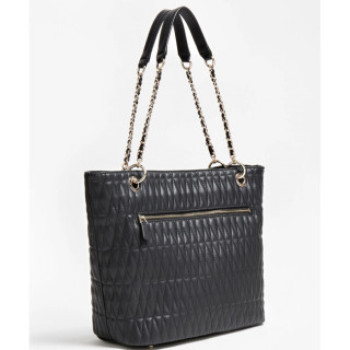 Guess Brinkley Sac Shopping Surpiqué Black dos