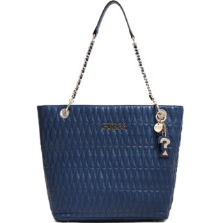 Guess Brinkley Sac Shopping Surpiqué Blue