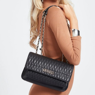 Guess Brinkley Sac Trotteur Surpiqué Black