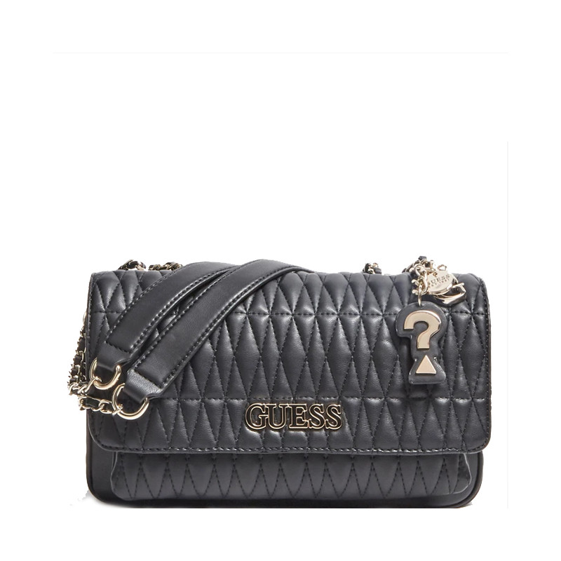 Guess Brinkley Sac Trotteur Surpiqué Black face