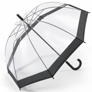 Happy Rain Parapluie Femme Cloche Automatique PVC Black