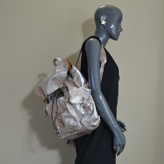 """Paul Marius Lemeridien Bag A Back for PC 15"""" Silver Amber"""
