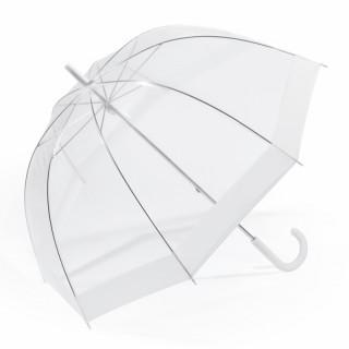 Happy Rain Parapluie Femme Cloche Automatique PVC White