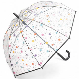 Happy Rain Parapluie Femme Cloche Automatique PVC Dots / Stars