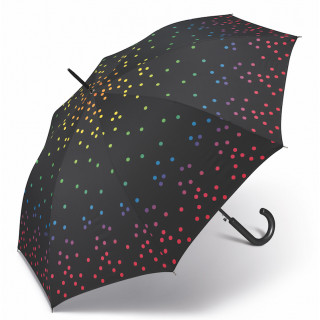 Happy Rain Parapluie Femme Canne Automatique Rainbow Dots