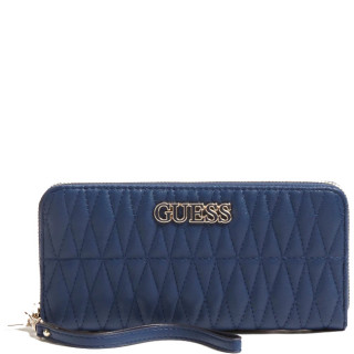Guess Brinkley Large Zip Companion Around Blue