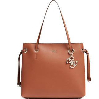 Guess Digital Charm Bag Shopping Cognac