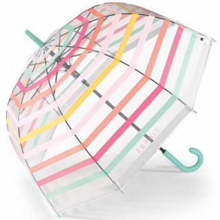 Esprit Parapluie Femme Cloche Automatique PVC Pastel Transparent