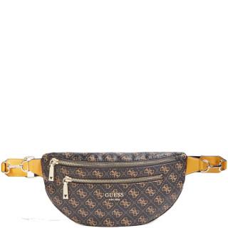 Guess Vikky Small Banana Bag Brown Belt