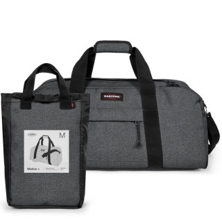 Eastpak Station - 77h Black Denim Polochon Bag