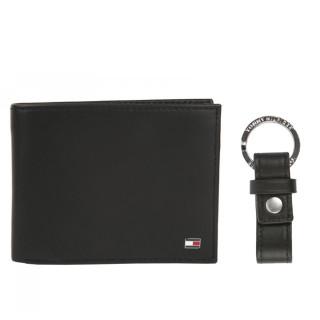 Tommy Hilfiger Eton Wallet Box and Black Leather Men's Key Door