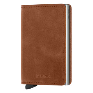 Secrid Slimwallet Vintage Cognac Silver Card Holder