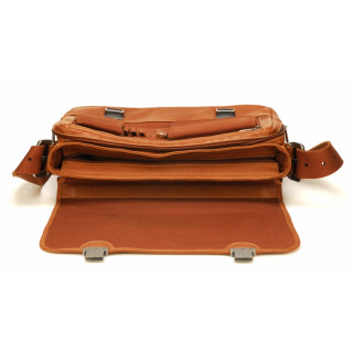 Arthur & Aston Johany Cartable 2 Flap Cognac