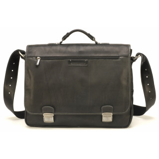 Arthur & Aston Johany Cartable 2 Black Flap Breaths