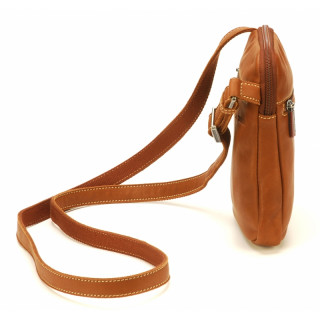 Arthur & Aston Johany Leather Cognac Shoulder Pocket