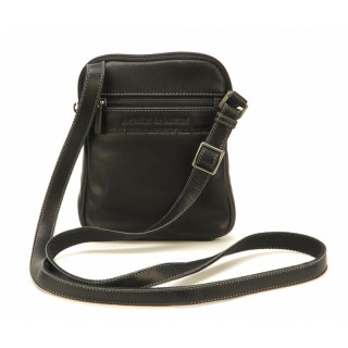 Arthur & Aston Johany Black Leather Shoulder Pocket