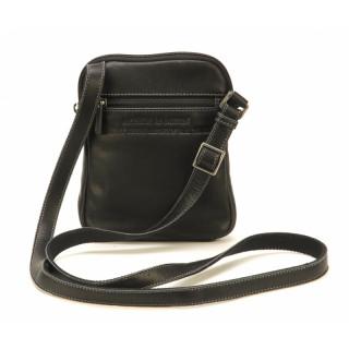 Arthur & Aston Johany Black Leather Shoulder Pocket