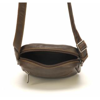 Arthur & Aston Johany Pouch Porté Travers Leather Chataigne