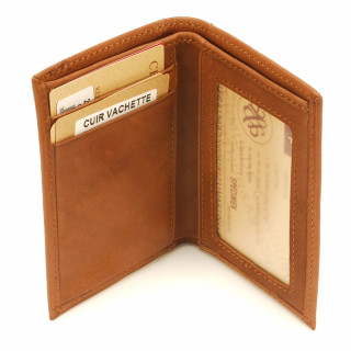 Arthur & Aston Johany Mini Porte-Cartes Leather Cognac