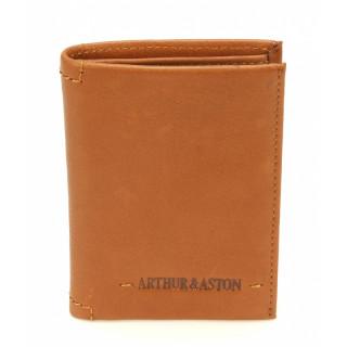 Arthur & Aston Mini Porte-Cartes Cuir Cognac