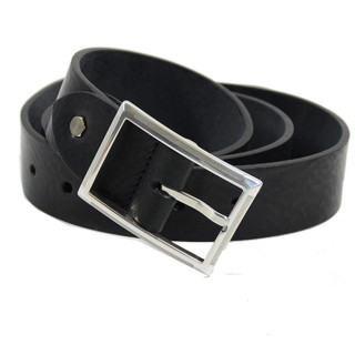 JL Fourès Leather Belt Missouri Men f50615 Black