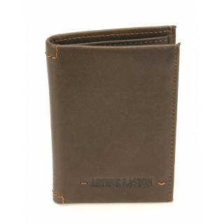Arthur & Aston Johany Mini Chataigne Leather Card Holder